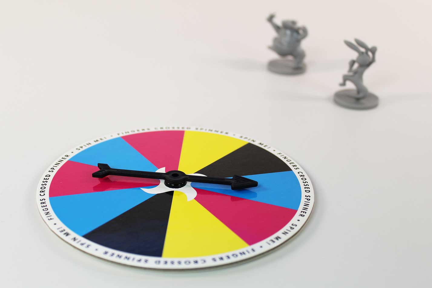 Fingers crossed spinner and miniatures