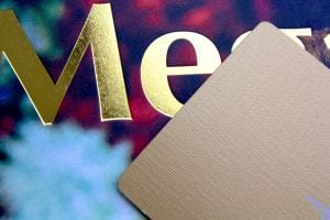 Example of foil stamping for cards