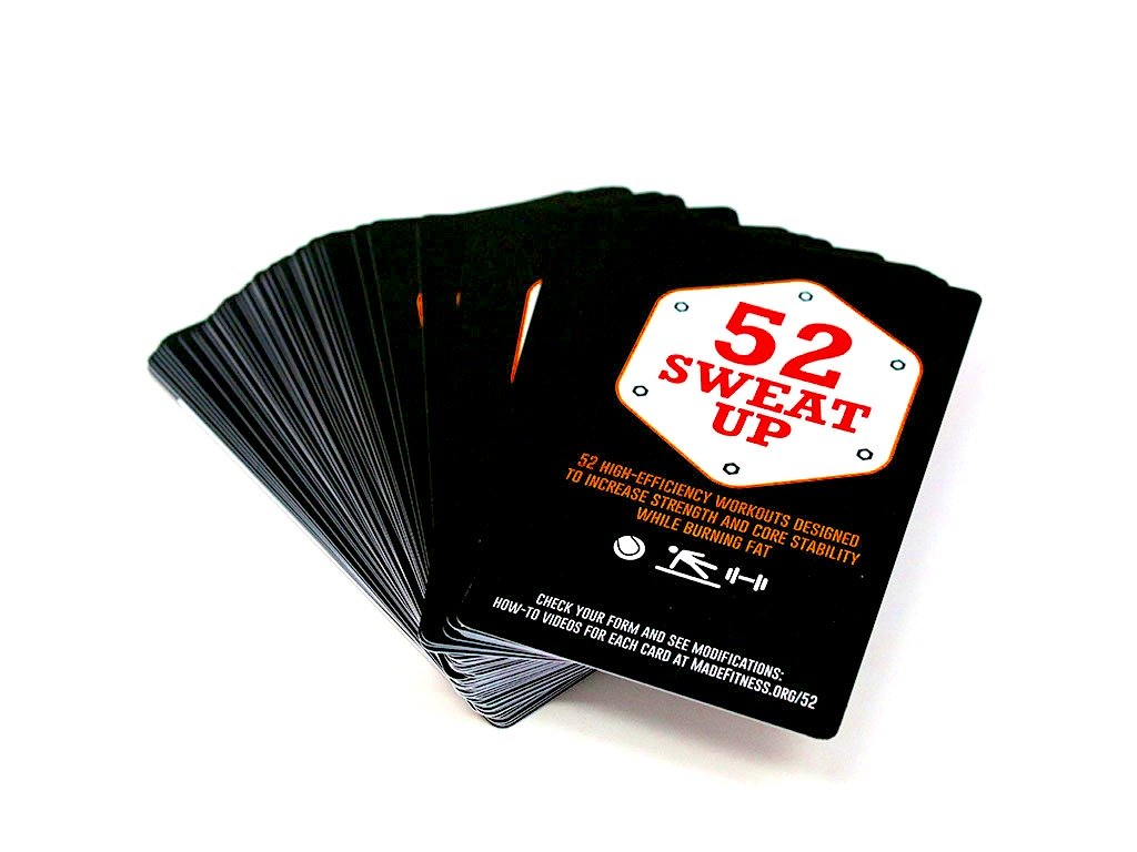 Deck of 52 workout cards
